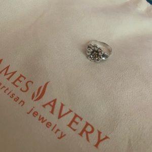 *Retired* James Avery April Flower Ring